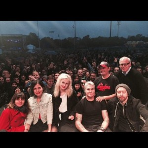 Greg Graffin, Henry Rollins, Tim McIlrath and the rest of the Riot Fest Discussion with the members of Pussy Riot, CHICAGO 2014